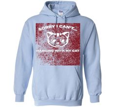 Funny I like cats shirt - Hanging with my cat tshirt t-shirt