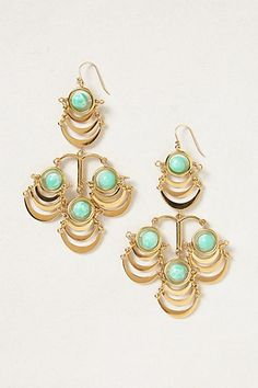 Scalloped chandelier earrings