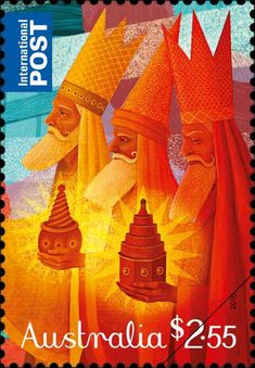 STAMP Australia issued Christmas stamps every year since and again this year we present both religious and secular themes in our Christmas 2015 stamp issue. Aussie Christmas, Australian Christmas, Christmas Post, Christmas 2015, Christmas Themes, Christmas In Australia, Ghost Of Christmas Past, Commemorative Stamps, Postage Stamp Art
