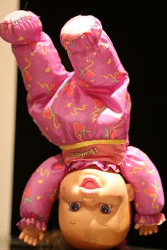 Baby Headstand Surprise Doll 1996. I LOVED this as a kid! She was soooo much fun!