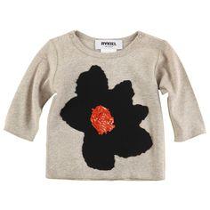 Rykiel Enfant Chiné beige stretch jersey T-shirt | Melijoe.com