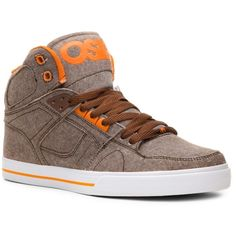 Osiris NYC 83 High-Top Skate Sneaker - Mens ($60) ❤ liked on Polyvore featuring shoes, sneakers, landry shoes, high top sneakers, osiris high tops, hi tops, high top trainers and osiris sneakers