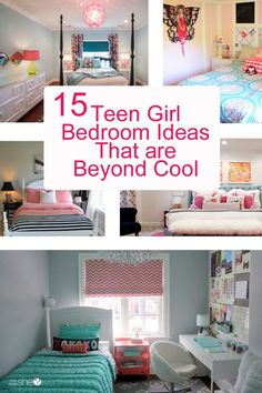 There are so many gorgeous teen girl bedroom ideas out there! We have found so many options that are so cool, they are bound to inspire your next DIY project! - Teen Girl Bedroom Ideas – 15 Cool DIY Room Ideas For Teenage Girls Teenage Girl Bedroom Designs, Cool Teen Bedrooms, Teen Girl Rooms, Teenage Girl Bedrooms, Tween Bedroom Ideas, Small Girls Bedrooms, Boy Bedrooms, Trendy Bedroom, Kids Rooms