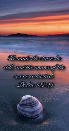 "Psalm 107:29 | Reference Bible |                                                                                                                                                   ""He causes the windstorm to stand at a calm,  So that the waves of the sea keep quiet."""