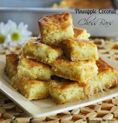For a taste of the islands, try these easy-to-make Pineapple Coconut Chess Bars. They're guaranteed to disappear in minutes.