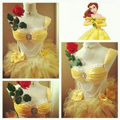Belle Date Party Outfit. This is adorable! I love it, but it would need some kind of fabric in the middle