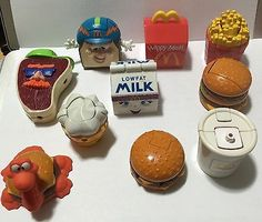 Mcdino McDonald's 10 Happy Meal Toys Food Changeables Transformers Others 1990 - http://hobbies-toys.goshoppins.com/fast-food-cereal-premium-toys/mcdino-mcdonalds-10-happy-meal-toys-food-changeables-transformers-others-1990/