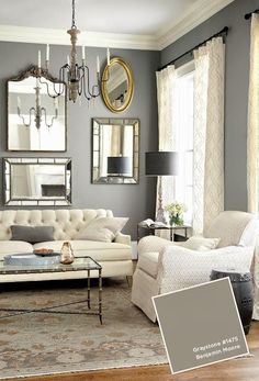 Ideas for Living Room Colors . Ideas for Living Room Colors . Room Paint Colors, Paint Colors For Living Room, Living Room Grey, Formal Living Rooms, Home Living Room, Living Room Furniture, Living Room Decor, White Furniture, Dining Room