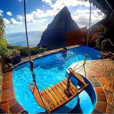 What a pool and what a fantastic view  *I love the color!*