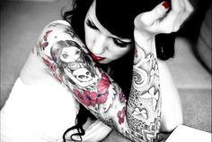 Girly tattoos girly photography makeup tattoo sad