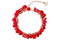 Red Coral Ruffle Bracelet on OneKingsLane.com