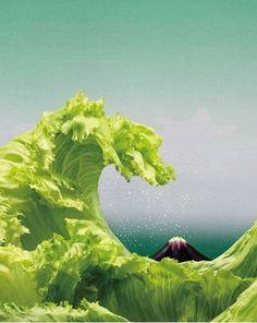 富岳三十六系現代版レタスの荒波