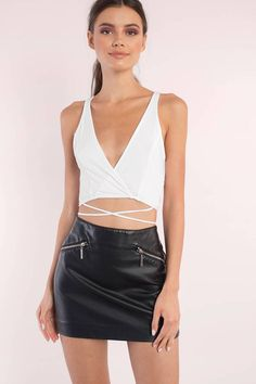 Jennifer Plunging Crop Top at Tobi.com #shoptobi