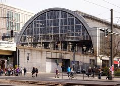 """Berlin architecture Photography: Central Station, it's the station we see into """"We Children from Bahnhof Zoo""""! Original architecture structure."""