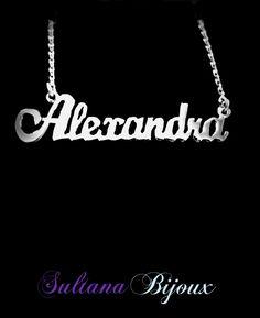 Colier din argint 925 personalizat cu numele ALEXANDRA Detalii pe: http://www.sultanabijoux.com/urundetay.php?urunID=1406&grupID=29&colier-argint-personalizat-alexandra