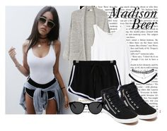 """""""#152 Madison Beer"""" by charlotte-sk ❤ liked on Polyvore featuring MANGO, Monki, WithChic, Superga, Wet Seal and Smoke & Mirrors"""