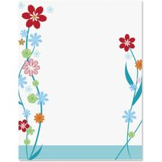 Petals PaperFrames Border Papers by PaperDirect