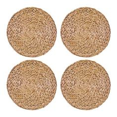 Creative Tops Round Natural Water Hyacinth Weave Placemats Tablemats, Set of 4 Luxury Bedroom Sets, Wood Bedroom Sets, Bedroom Furniture Sets, Furniture Stores, Placemat Design, Placemat Sets, Construction Bedroom, Beige Bed Linen, Bedroom Decor For Teen Girls