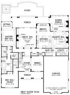 Floorplan The Atherton House Plan #1202