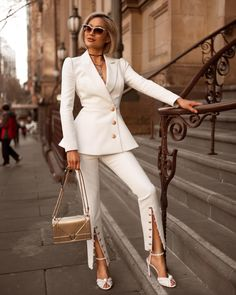 White Outfit Picture all white outfit for ladies White Outfit. Here is White Outfit Picture for you. White Outfit 3 all white outfits you can wear from day to night kendall. White Outfit 43 all white. Suit Fashion, Look Fashion, Fashion Outfits, Womens Fashion, Woman Outfits, Chic Fashion Style, Fashion Beauty, Luxury Fashion, Elegance Fashion