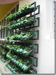 vertical garden botol bekas