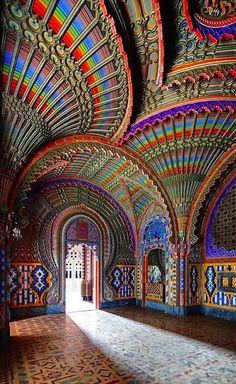 The Peacock room at Castello di Sammezzano in Reggello, Tuscany, Italy • Best Destination| Fun Trip| DIY Tutorial| Save Money on trips| Cheap Destination