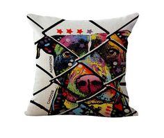 """Dog Printed Decorative Throw Pillows 18"""""""
