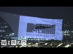 Breaking the World Record for Largest Aerial Projection Screen   WIRED - YouTube