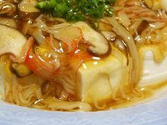 かにかまと椎茸の和風あんかけ豆腐の画像