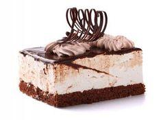 Chocolate cake with cream on white Chocolate Photos, Chocolate Cake, Mousse, Creme Caramel, French Food, Vanilla Cake, Cheesecake, Fondant, Food And Drink