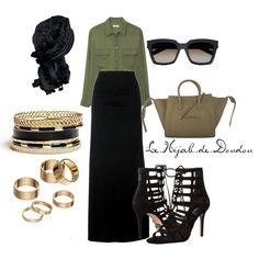 Gold and White Hijab Outfit Maxi Skirt Outfits, Casual Dress Outfits, Hijab Outfit, Modest Outfits, Classy Outfits, Chic Outfits, Fashion Outfits, Sporty Fashion, Ski Fashion