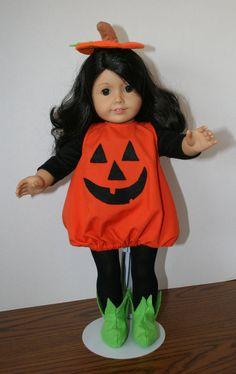 American Girl Doll ClothesPumpkin Halloween by KathiesDollCloset, $14.99