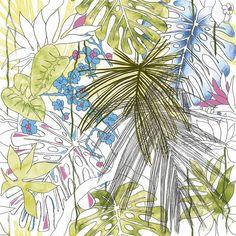 Jungle Floral Equatoriale Aggressive 24x24 Porcelain Tile | Tilebar.com Outdoor Flooring, Outdoor Walls, Motif Jungle, Sanded Grout, Commercial Flooring, Tropical Birds, Motif Floral, Porcelain Tile, Wall Tiles