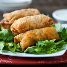 Buffalo Chicken Egg Rolls Really good! 1/4 c tapatio was used and added a good kick. Omitted bleu cheese and cut up chicken (or shred it)  Add cabbage next time.  Other ways to try: ground beef, cheese.