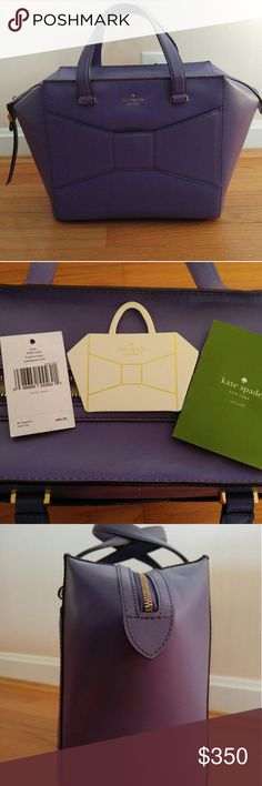 Kate Spade Large Beau, purple In pristine condition. Used only once, and has been conditioned with leather cleaner and conditioner to protect this baby. Dust bag IS included (not pictured). Stored in dust bag with stuffing to keep its shape. kate spade Bags Satchels