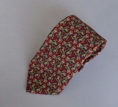 Mens Silk Necktie Brooks Brothers Micro Print Horses Carousel Horse Chain Red  #BrooksBrothers #Tie