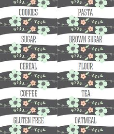 PANTRY LABELS :: Free Printables part of a large collection.