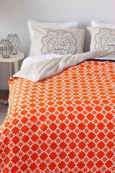 Oranje dekbed gaat wat te ver he :)?