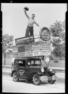 "Advertising car from Reno, Southern California, 1930 :: ""Dick"" Whittington Photography Collection, 1924-1987"