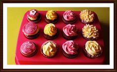 Pedido bandeja de cupcakes maracuyá y piña colada