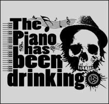 Women's Tom Waits Skull T Shirt - Girls Indie Jazz T Shirts - Ladies Blues Piano Tee