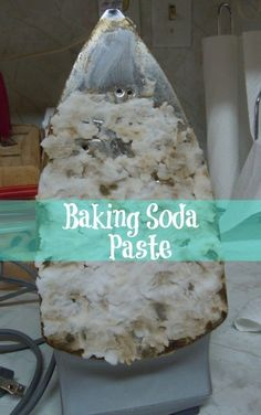 Clean your iron with a scrub made from baking soda and water. | 31 Clever Ways To Clean All Of The Stubbornly Dirty Things