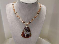 Handmade Jewelry Set Sardonyx Agate by DeanasQuiltsandMore on Etsy, $45.00