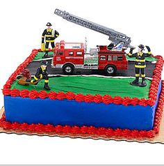 Easy with fire engine truck and firemen from toy store