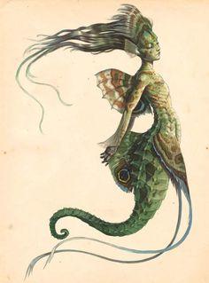 Mermaid seahorse -- art by Tony DeTerlizzi