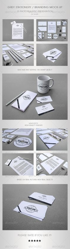 Grey Stationery/Branding Mock-Up