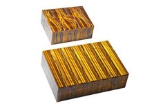 Two tiger eye boxes,  Brazil, (2)