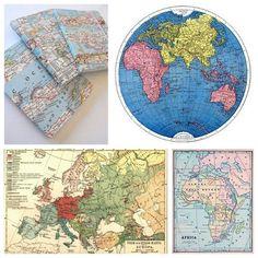 Best Decor Hacks : Free Vintage Map Printables