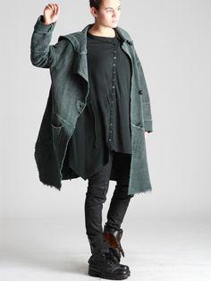 Plush Coat with Uneven Dye  Getting Kiraku Clothing inspired