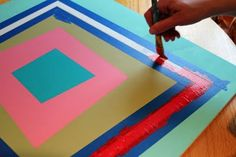 painting a quilt block on canvas or plywood